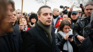 Far-Right Hungarian MP Gabor Vona Stages Political Rally In London