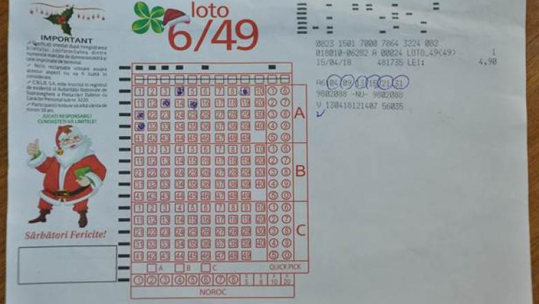 bilet loto castigator