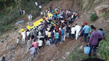 accident india autobuz scolar