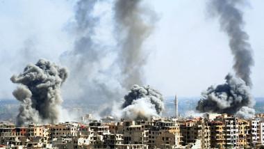 SYRIA-DAMASCUS-DOUMA-SYRIAN ARMY-STROMING-ISLAM ARMY