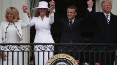 President Trump And First Lady Melania Trump Welcome President Macron And Mrs. Macron To The White House