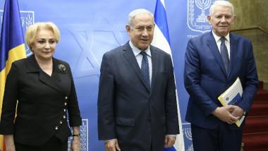 dancila melescanu netanyahu - gov