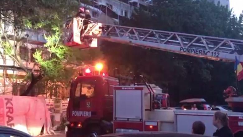 pompieri bloc bucuresti