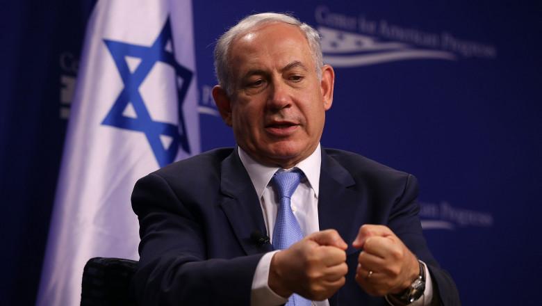 Israeli Prime Minister Benjamin Netanyahu Speaks At The Center For American Progress
