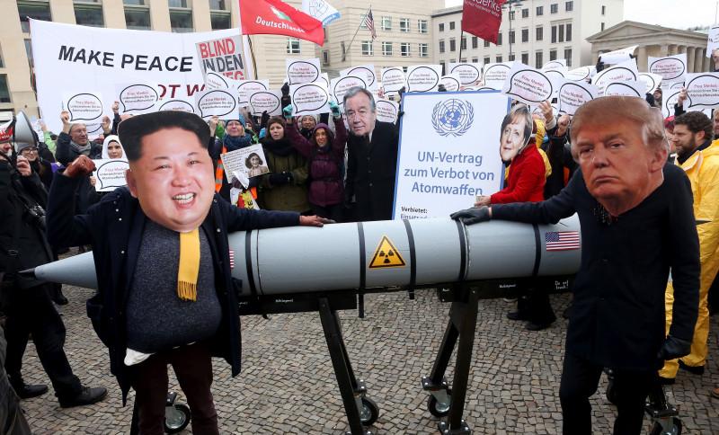 Activists Protest U.S.-North Korean Nuclear Tensions