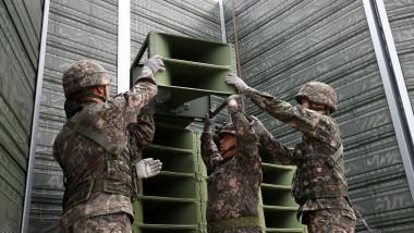 S. Korea's Military Remove Propaganda Loudspeakers From DMZ