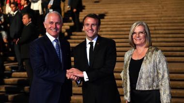 French President Emmanuel Macron Visits Sydney