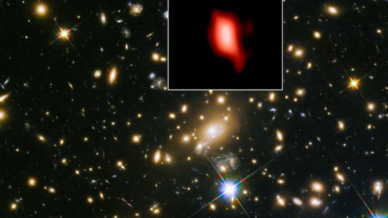 Hubble and ALMA image of MACS J1149.5+2223