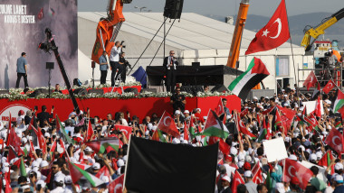 Major Rally Held In Istanbul To Protest Killing Of Palestinians In Gaza