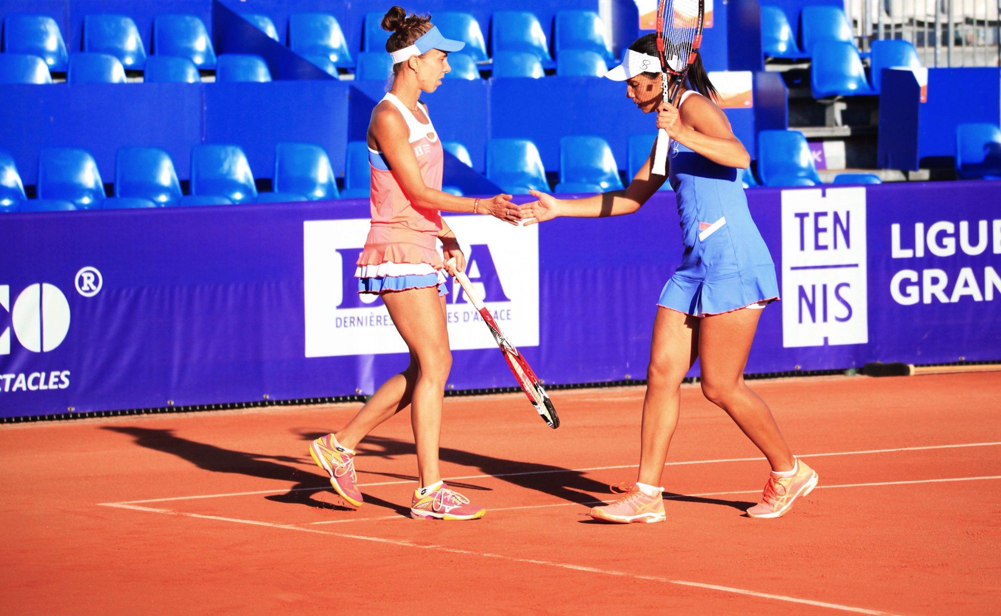 Mihaela Buzarnescu şi Raluca Olaru, in finala probei de dublu, la Strasbourg