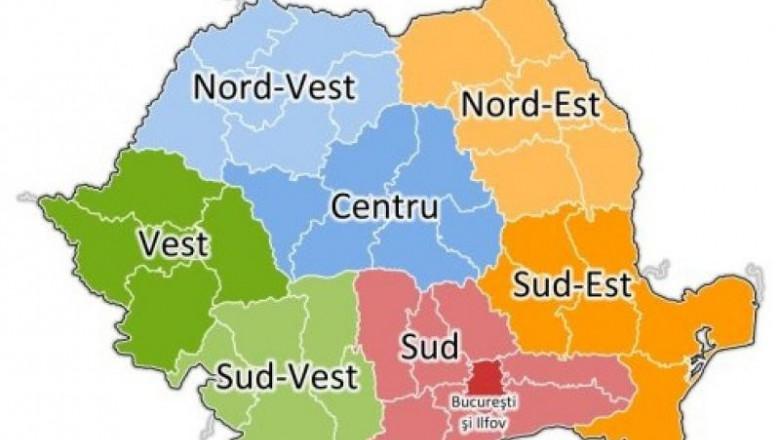harta regiuni