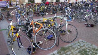 Cantimpalos. Segovia. Castilla y Leon (Spain) Bycicles.