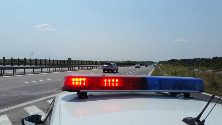 radar masina politie pe autostrada _fb politia romana