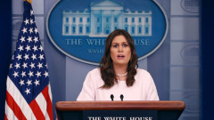 Press Secretary Sarah Sanders Holds Daily Briefing At The White House