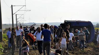 Train accident in Tekirdag, west of Turkey