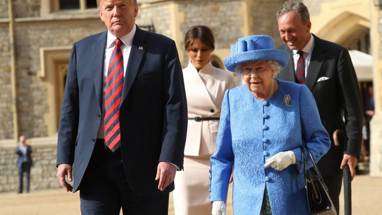 donald trump regina elisabeta marea britanie