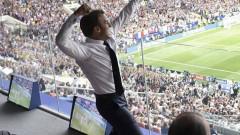 macron bucurie fotbal - fb en marche nievre