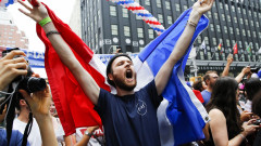World Cup Fans In The U.S. Gather To Watch Final Between France And Croatia