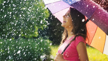 ploaie de vara umbrela meteo vreme shutterstock_148017509