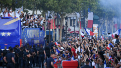 French team back to France after winning FIFA World Cup 2018
