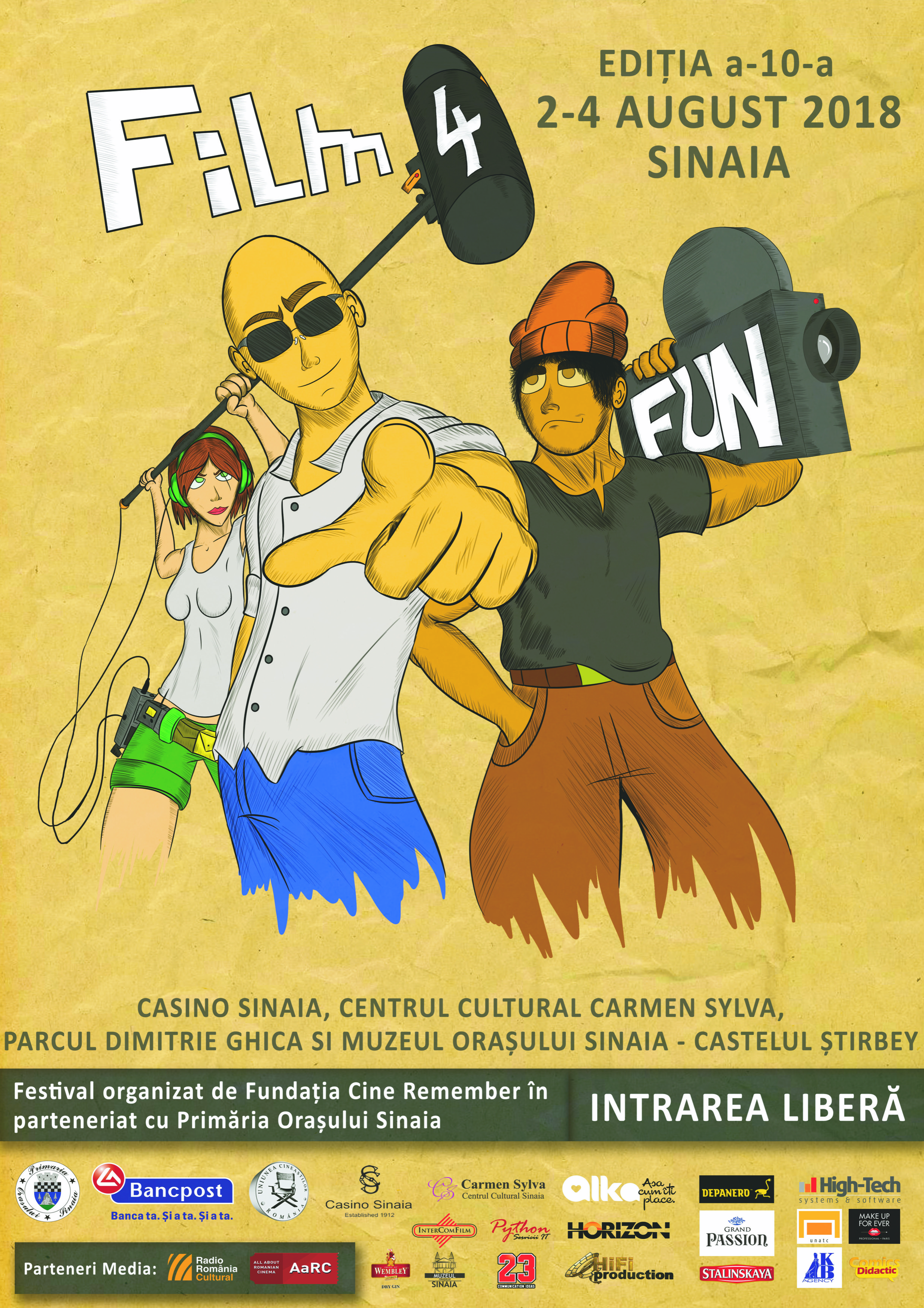 """(P) Festivalul """"Film 4 Fun"""" - filme, distractie si surprize la Sinaia"""