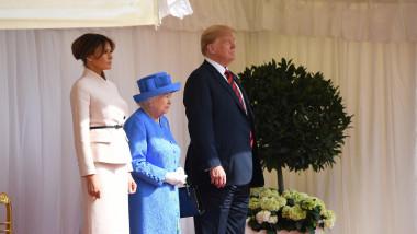 US President Trump meets with Queen Elizabeth II