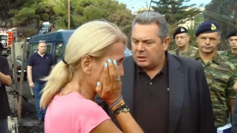 femeie grecia ministru apararii incendii_captura
