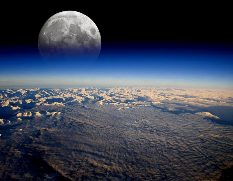 pamant rece zapada glob spatiu luna