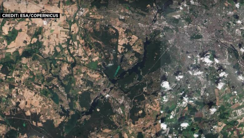 Imagini Satelit Proporțiile Valului De Căldură Din Germania