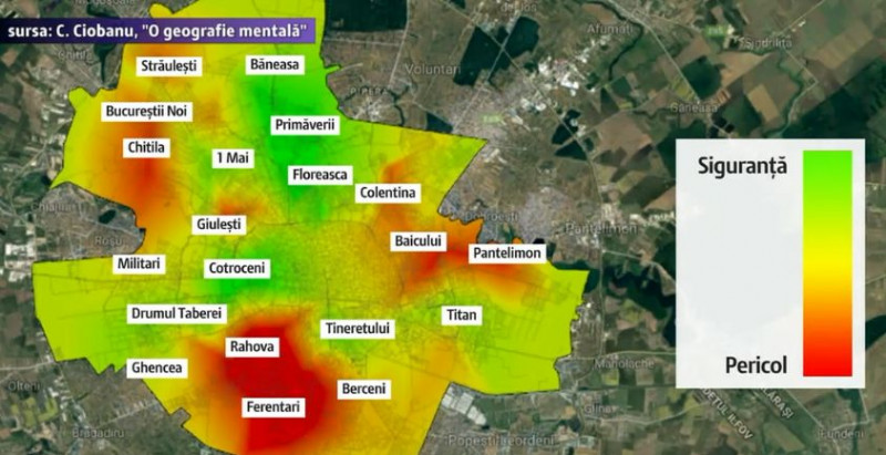 Harta Fricii Bucureștiului Zonele Surprinzătoare Unde Au Loc Cele