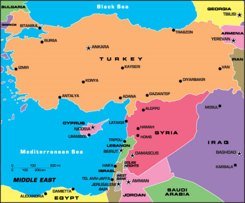 harta turcia cipru