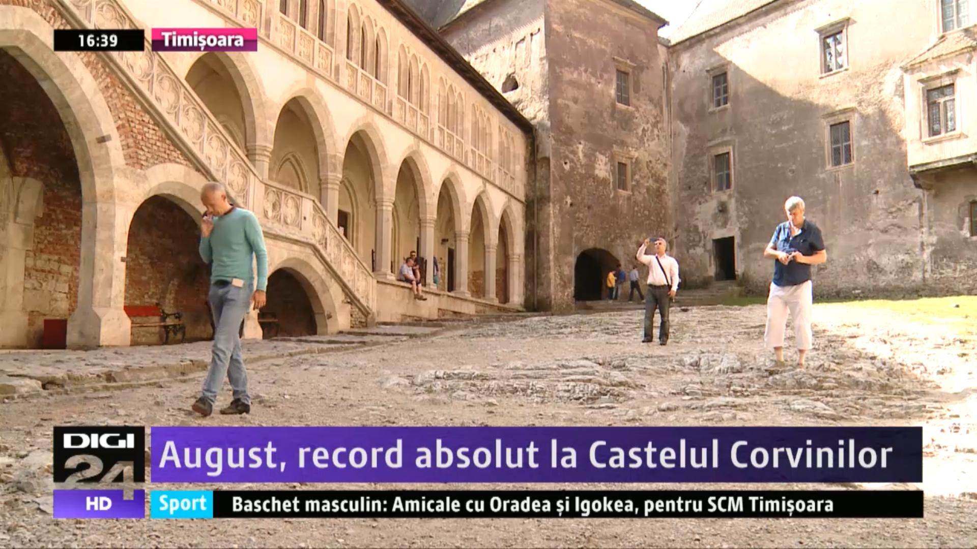 August, record absolut la Castelul Corvinilor