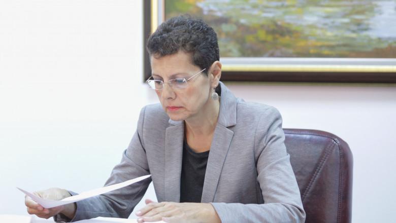 Adina Florea la interviul de la CSM.