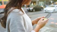femeie smartphone uber