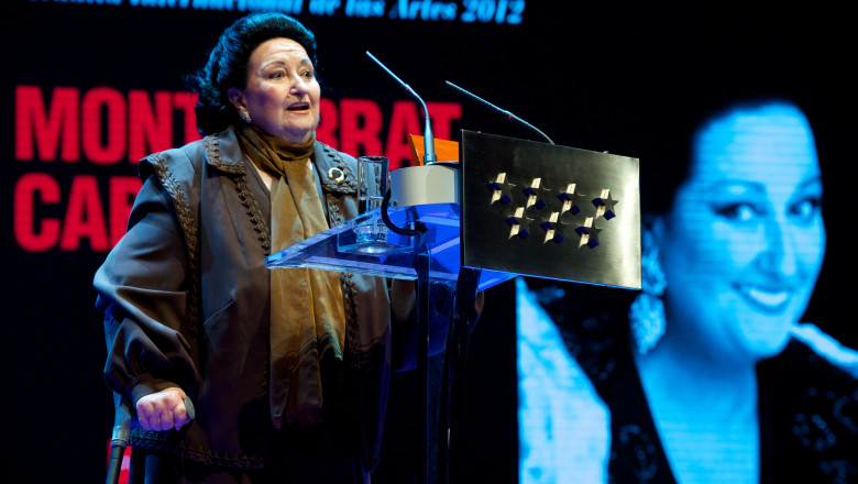 Montserrat Caballe Receives the International Medal of The Arts in Madrid
