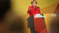 Merkel Campaigns In Schwerin