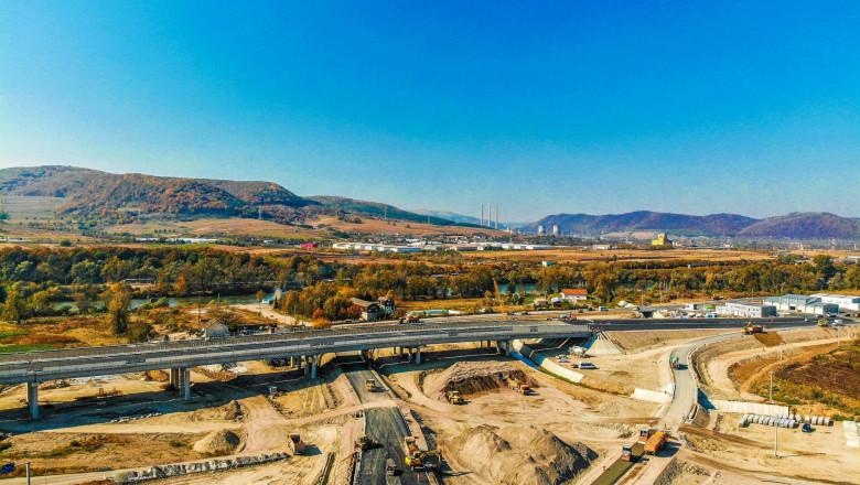 Imagine de pe Lotul 4 al Autostrăzii Lugoj – Deva