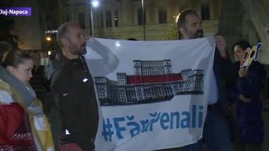 Protest la Cluj-Napoca în urma modificărilor aduse legilor justiţiei