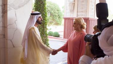 Întrevederea prim-ministrului României, Viorica Dăncilă, cu Mohammed bin Rashid Al Maktoum, vicepreşedintele şi prim-ministrul Emiratelor Arabe Unite, conducătorul Emiratului Dubai (2)