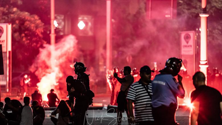 Violente la protestul din 10 august din Piata Victoriei