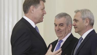 Klaus Iohannis Liviu Dragnea Calin Popescu Tariceanu
