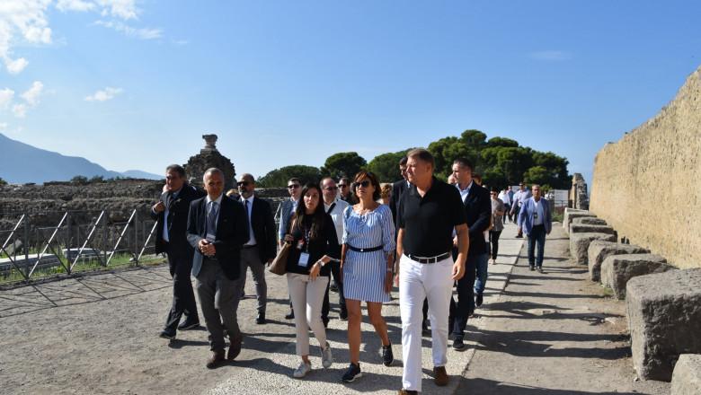 Klaus Iohannis si Carmen Iohannis in Pompei