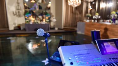 microfon si orga, sala de nunta_shutterstock_402557770