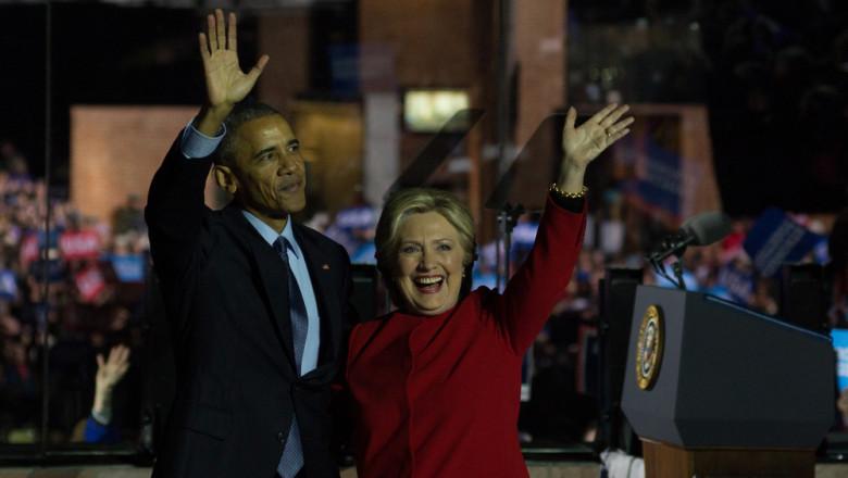 Barack Obama și Hillary Clinton