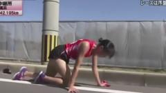 atleta in genunchi