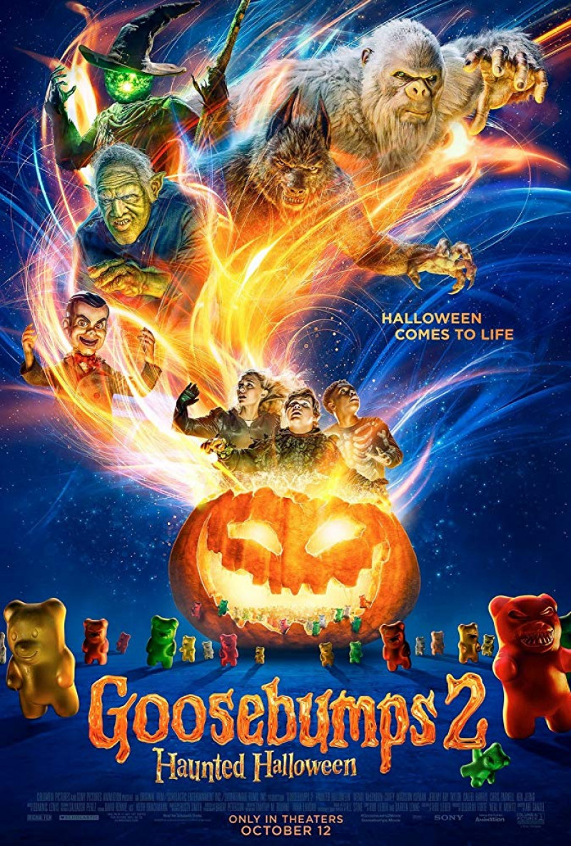 "Filme de groază la cinema de Halloween 2018 - ""Goosebumps 2 Haunted Halloween"""