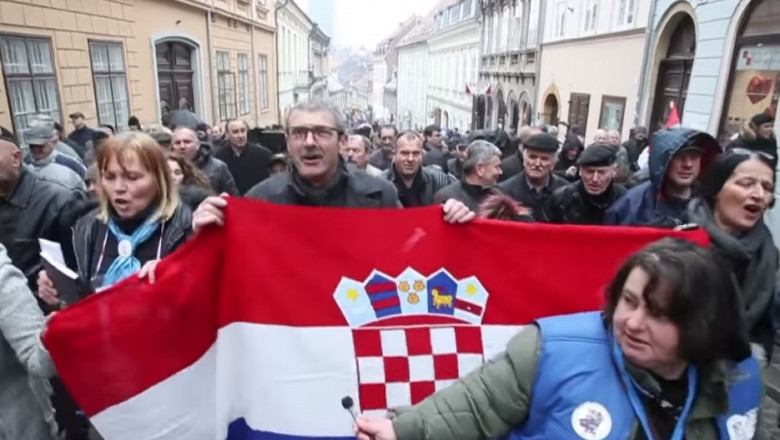croatia protest pensie