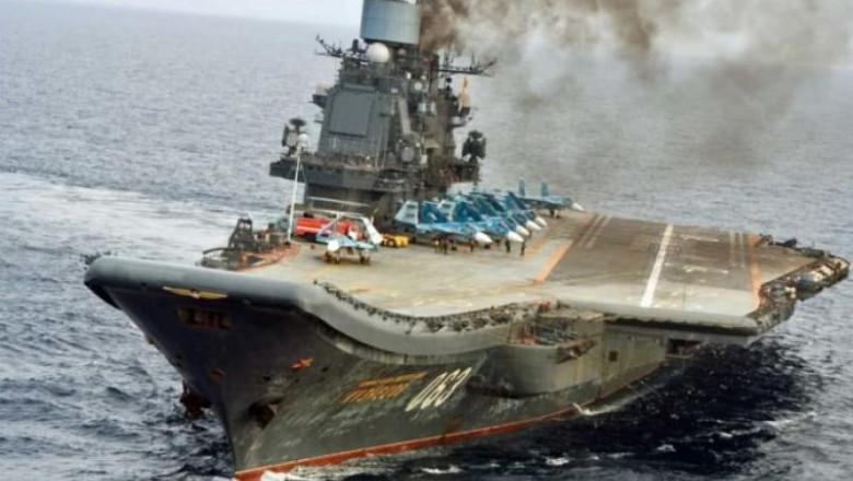 portavionul rusesc amiral kuznetov