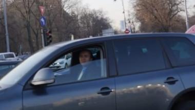 Tudorel Toader la volanul VW-ului primit de la SRI