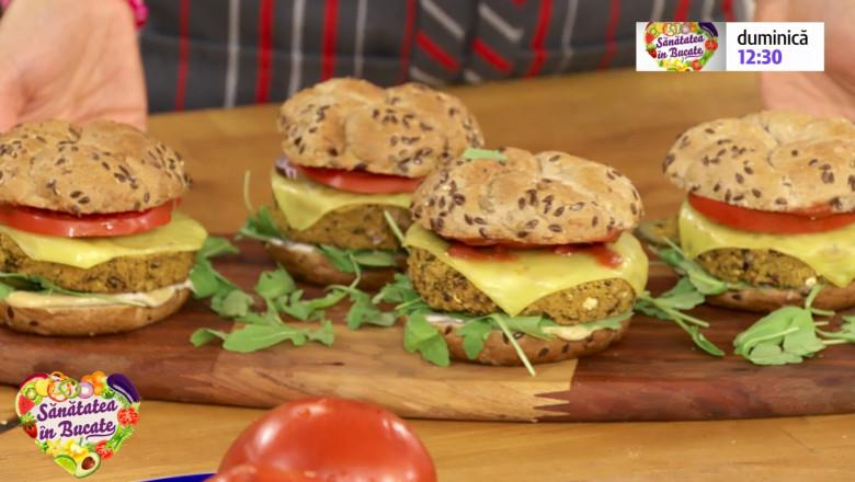 cheeseburger vegetarian sanatatea in bucate
